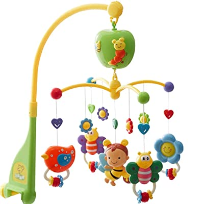 MAJINCGJ Newborn baby toy Multifunctional Baby Bed Bell, Baby Rattle Bed Bell Baby Toy Music Rotating Bell 3-6-9 Months Newborn Soothing Educational Toys Children Bedside Bell Pendant Sleepy Ornaments : Baby [5Bkhe1001318]