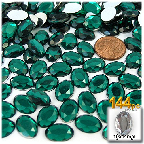 Compare price emerald plastic gems on for Plastic gems for crafts