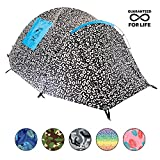 Chillbo Baggins CHILLBO CABBINS Best 2 Person Tent with Cool Patterns ULTIMATE SUMMER CAMPING GEAR GIFT for Backpacking Car Camping Music Festivals Best Camping Tents for Family Sleeps 2-3