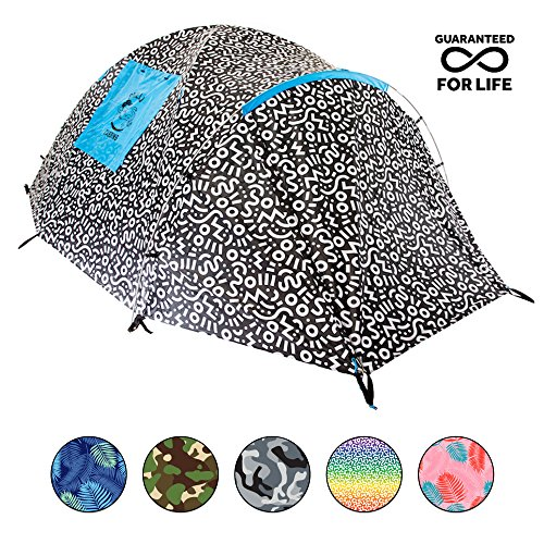 Chillbo Cabbins 2 Person Tent with Cool Patterns Ultimate Camping Gear for Backpacking Car Camping Music Festivals Family Camping Tents for Camping Sleeps 2-3 (Camp Tent)