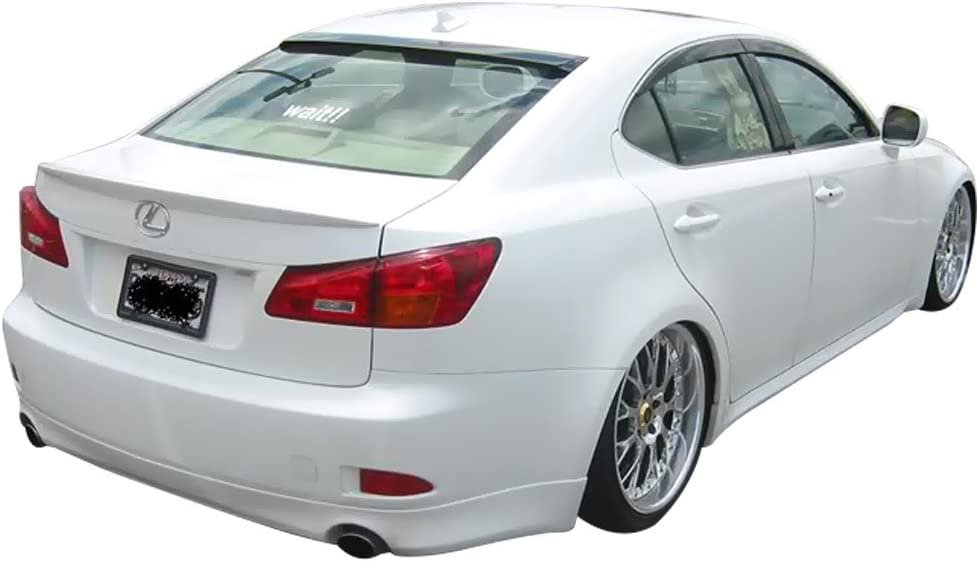 2007 2008 2009 2010 2011 2012 Trunk Spoiler Compatible With 2006-2013 Lexus Is250 350 ISF ISF Sport Style Carbon Fiber CF Rear Tail Lip Deck Boot Wing Other Color Available By IKON MOTORSPORTS
