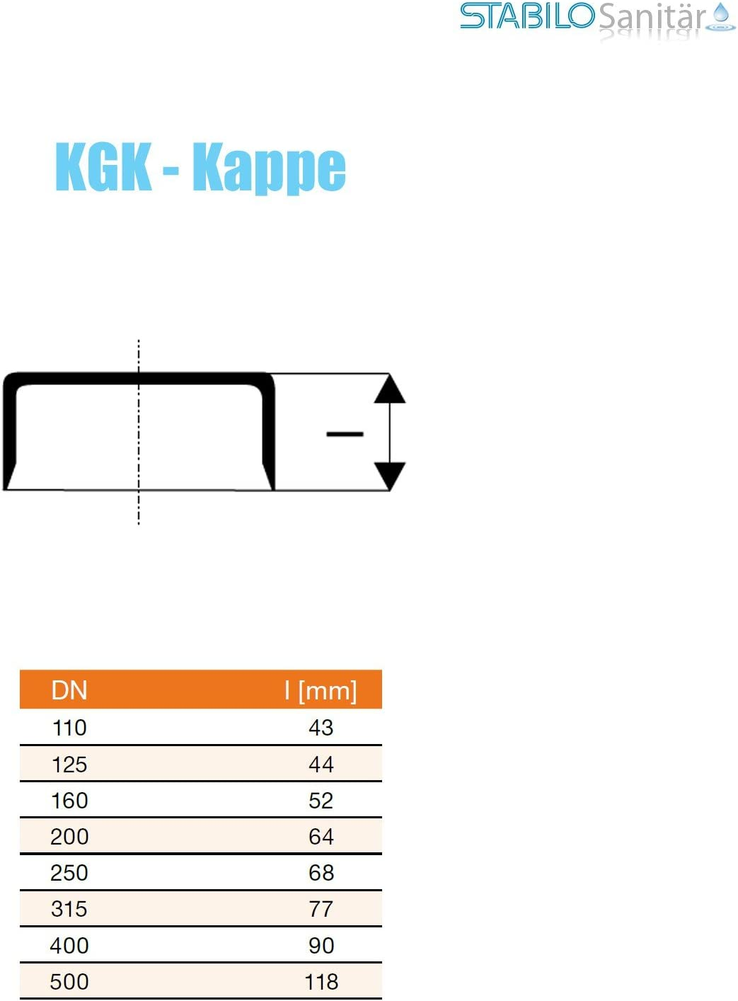 Ostendorf KG Kappe DN 200 mm Endkappe Deckel Rohrkappe Endkappe Abwasserrohr