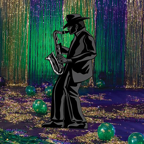 Roaring 20's Twenties Jazz Sax Player Cutout Standup Photo Booth Prop Background Backdrop Party Decoration Decor Scene Setter Cardboard Cutout