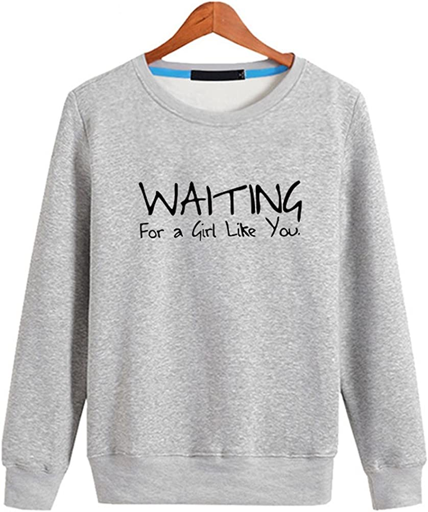 QZUnique Mens Spring Casual Loose Sport Simple Alphabet Pattern Crewneck Sweatshirt