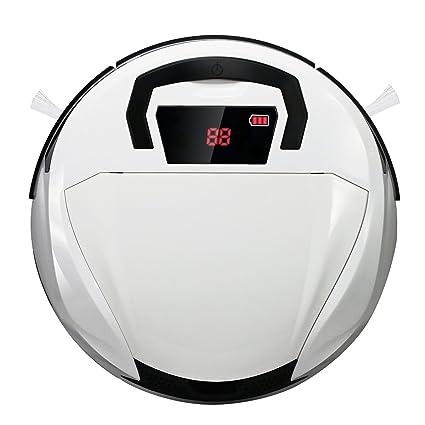 EVERTOP Aspiradora inteligente, Robot aspiradora para pisos, Robot barredor inalámbrico con ponderosa aspiradora casera