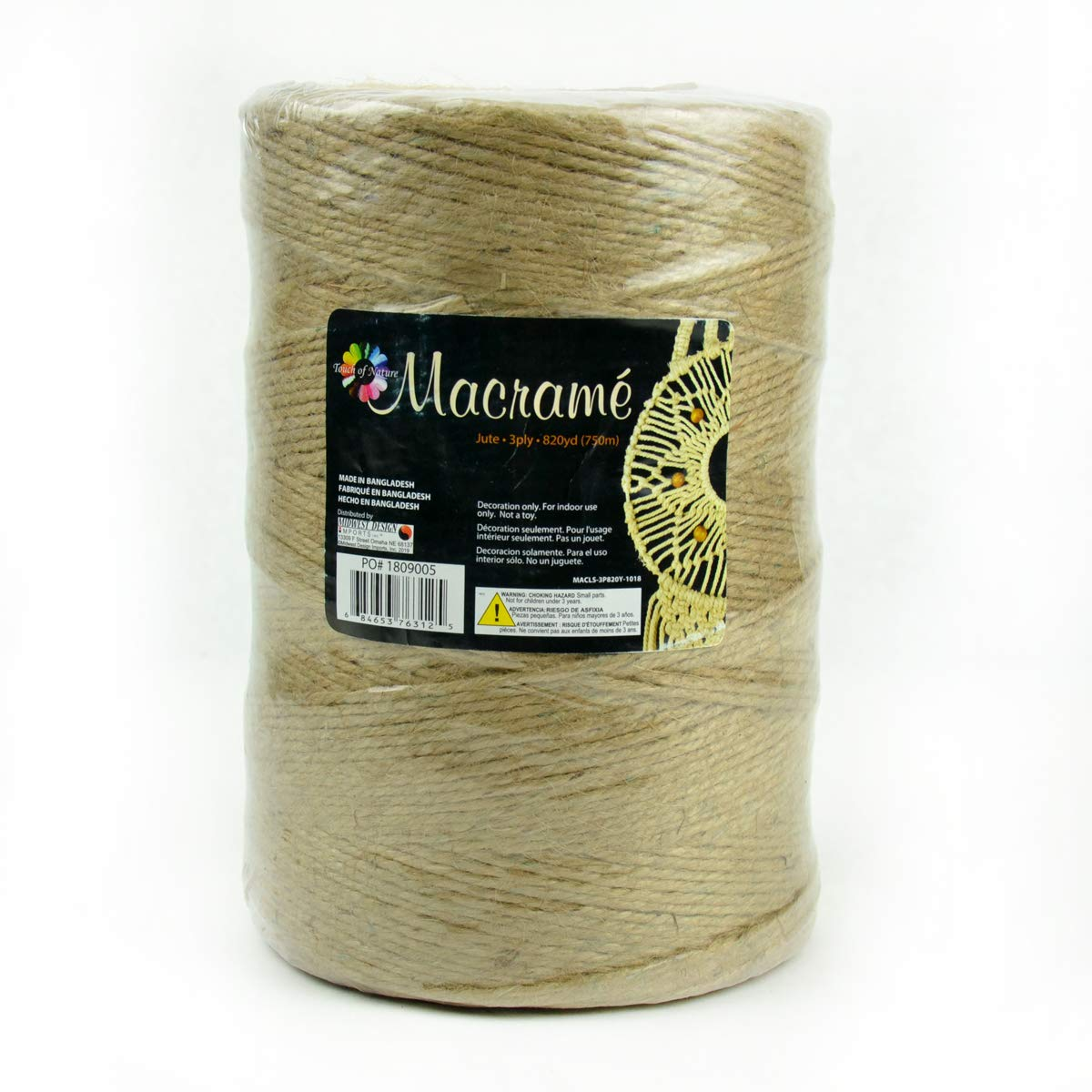 Natural Jute Twine String for Crafts 2,550 Ft - 3ply Art and Crafting String - Gift Wrapping Rope by Touch of Nature by Touch of Nature