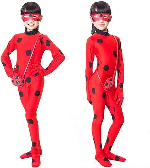 Wiokslms Disfraz Clásico Ladybug Miraculous Cosplay Ladybug ...