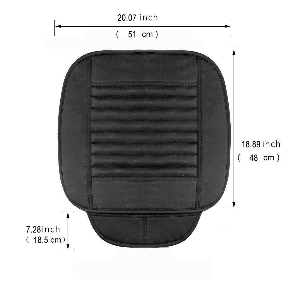 Big Ant Weich Sitzauflagen Auto Autositzbezug Autositzberz/üge Sitzkissen Auto Sitzauflagen f/ür Auto Vordersitze mit PU-Leder Grau
