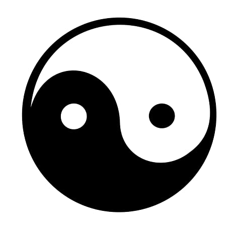 Amazon 3 Ying Yang Chinese Symbols White Helmet Sticker Decal