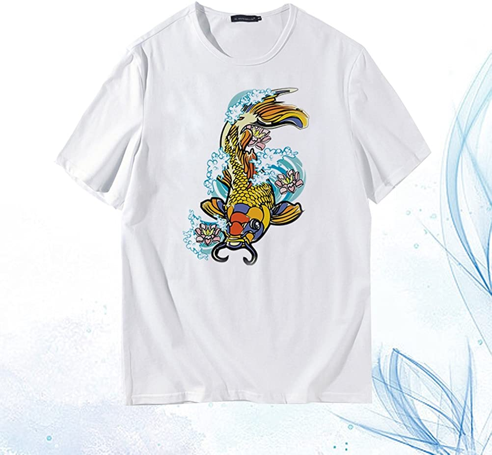 Hombres camiseta fresca impresión de la moda de manga corta de verano remata tes cómodo camisa floja (XH80X105 M): Amazon.es: Ropa y accesorios