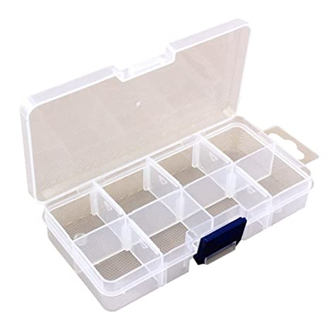 Amazoncom 8 Grid Portable Clear Hard Plastic with Removable
