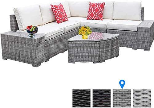 6 Pieces Outdoor Patio Furniture Set