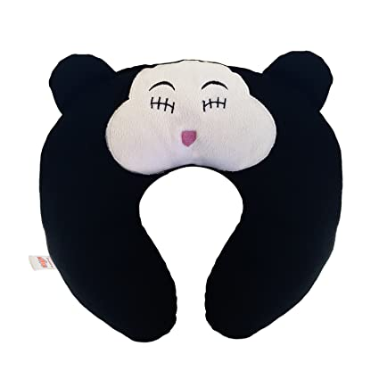 Ultra Soft Cat Travel Neck Cushion Pillow, Black (14 inch)