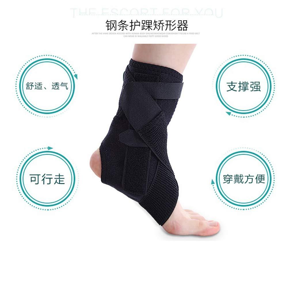 JTIHGNFG Pied Support Anse en Acier réglable Pied valgus Correction Chaussure Foot varus Pied Tombant Orthèse