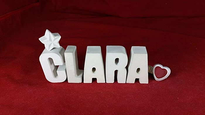 Beton Steinguss Buchstaben 3D Deko Namen LUKA als Geschenk verpackt!