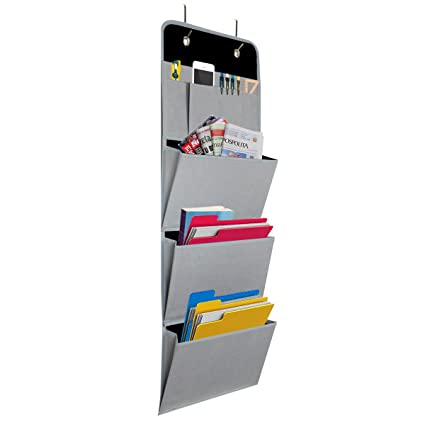 Onway Office File Folders Racks Over The Door Mail Organizer Wall Hanging  Mount Pocket Storage For