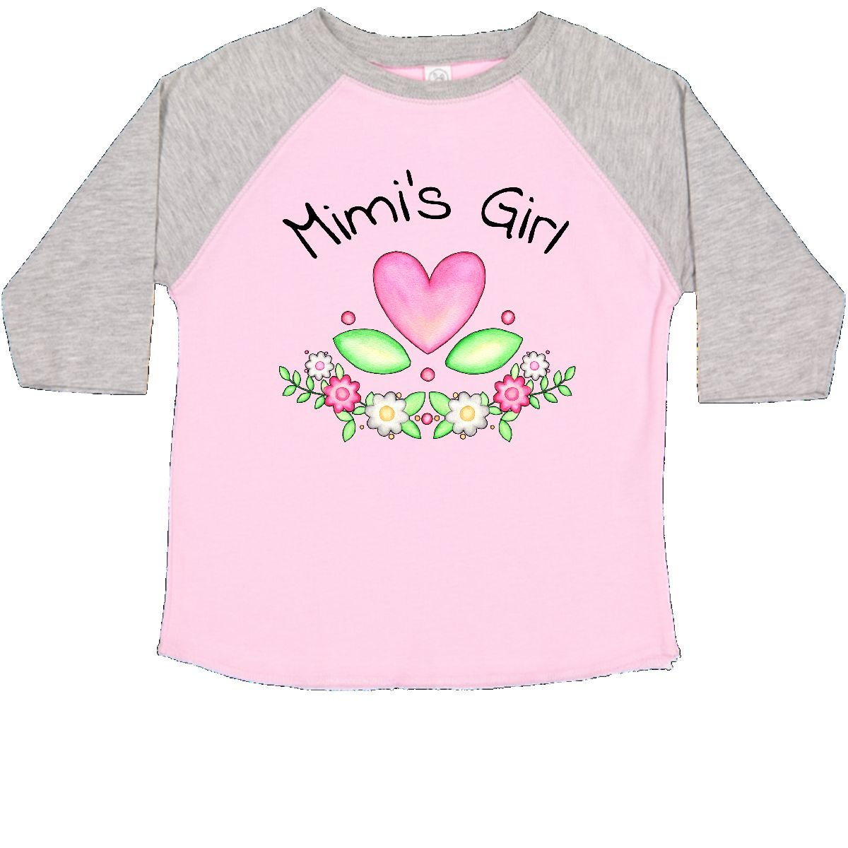 inktastic Mimis Girl Heart Flowers Toddler T-Shirt