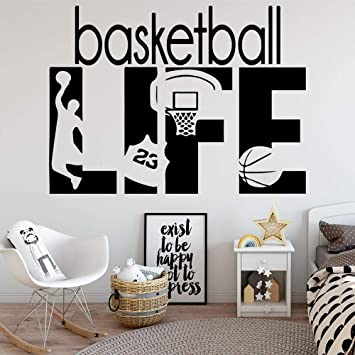 Preciosa vida de baloncesto pegatinas de pared a prueba de agua ...