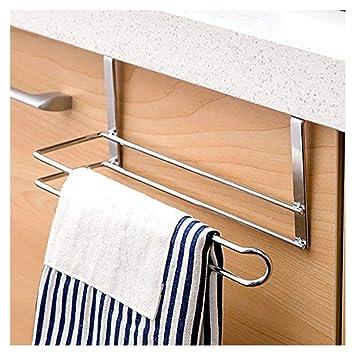 Amazon Com Gtg Towel Rack For Kitchen Cabinet Door Hang On Inside