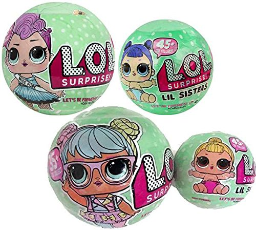 Bundle of Lets Be Friends! - Series 2 Wave 1 & 2 LOL Surprise Doll and Her Lil Sister - Total of 4 Dolls by L.O.L. Surprise!