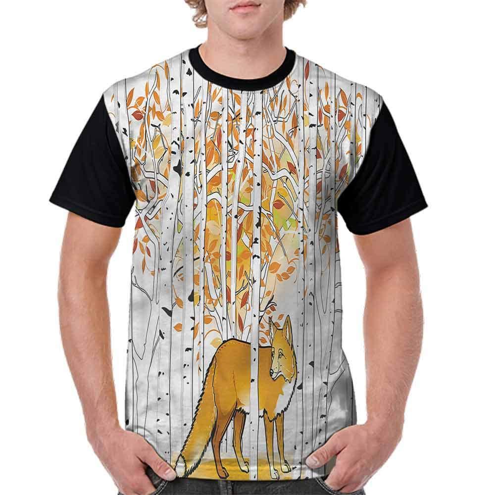 Teen t-Shirt,Deer Morning Sun Fashion Personality Customization