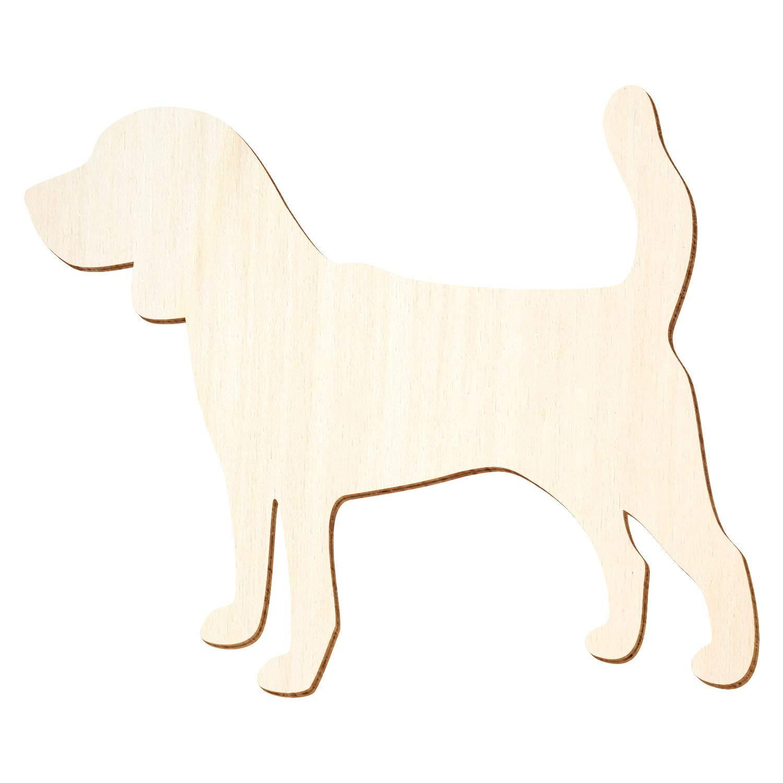 Holz Hund Beagle - 3-50cm Breite - - - Basteln Deko, Pack mit 100 Stück, Größe 13cm B07P8VMQ4L | Elegant und feierlich  baba4e
