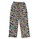 Emoji Pants for Kids Popular Girl's Fuzzy Fleece Pajama Pants - Emoji Cluster - 10/12