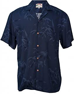 product image for Aloha Bamboo - Men's Hawaiian Print Aloha Shirt - in Navy