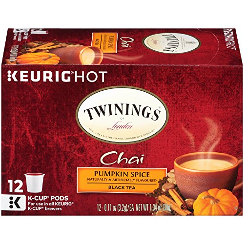 Twinings Pumpkin Spice Chai Tea, Keurig K-Cups, 12 count  (Pack of 6) (Tea Spice Savory)