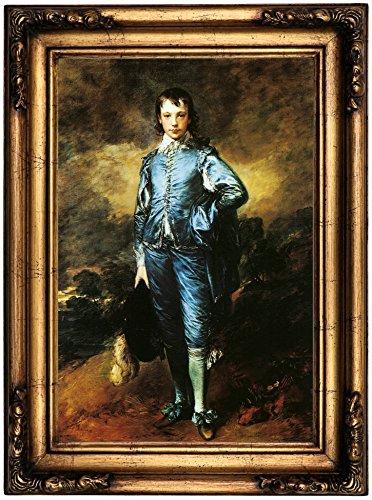 Historic Art Gallery the Blue Boy, Portrait of Jonathan Buttall by Thomas Gainsborough Framed Canvas Print, 12