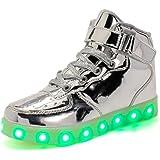 Wildfire Vine Scarpe LED Bambini Bambina 7 Colore USB Carica Sneaker Scarpe Unisex Bambino Scarpe con Luci Scarpe LED Luminosi Sneakers con Luce nella Suola Bright