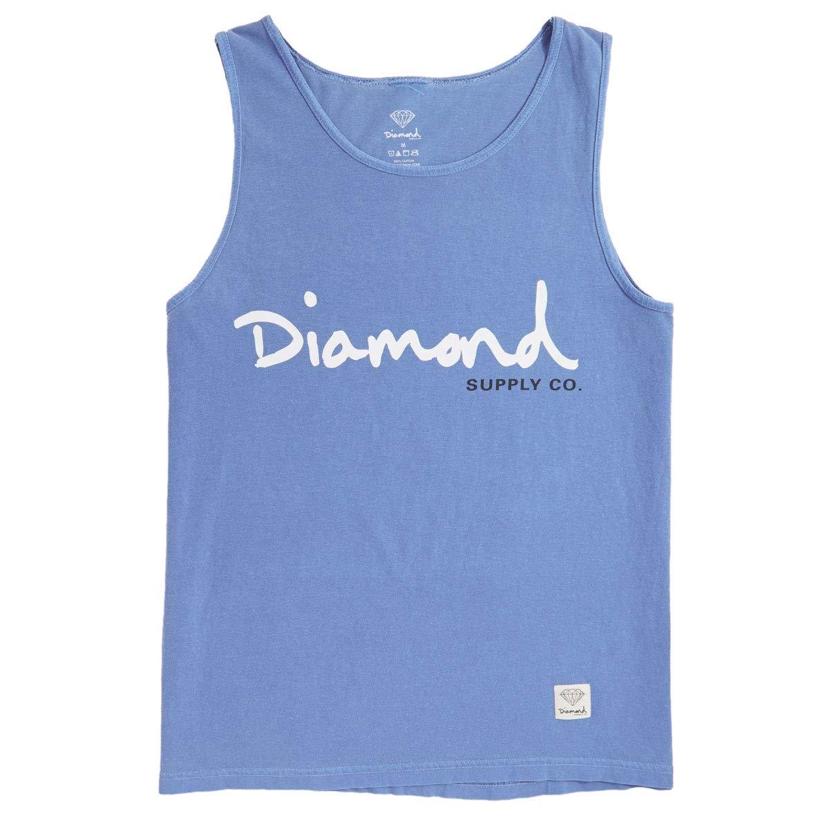 OG Script Overdye Tank Top Blue Diamond Supply Co