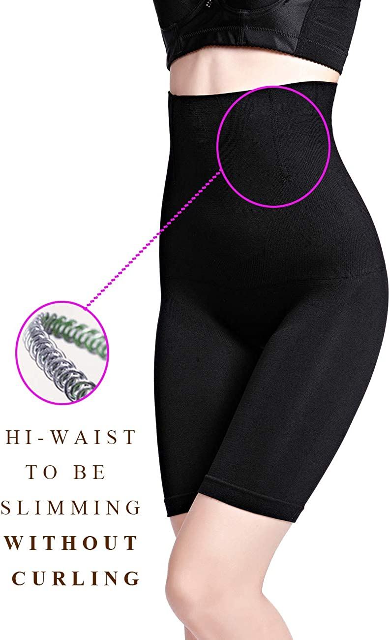 iWoo Thigh Slimmer Shapewear for Women High Waist Tummy Control Knickers Seamless Slimming Panties Body Shaper