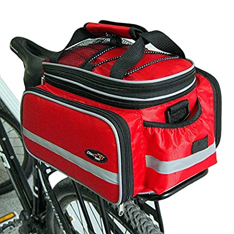 Disconano® Waterproof Multi Function Excursion Cycling Bicycle Bike Rear Seat Trunk Bag Carrying Luggage Package Rack Pannier with Rainproof Cover - Tour Rack