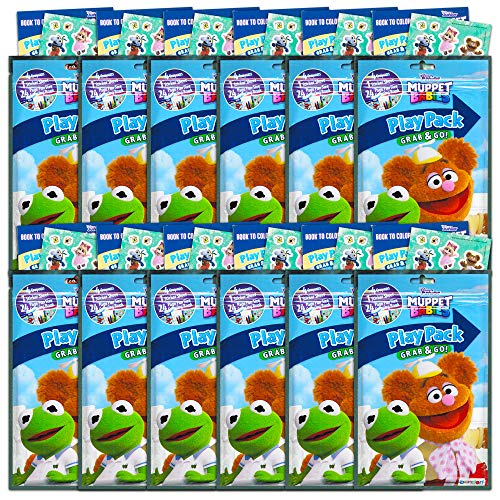 Coloring Books Muppet Babies Party Favors Pack ~ Bundle of 6 Muppet Babies Play Packs Filled with Stickers Muppet Babies Party Supplies and Crayons