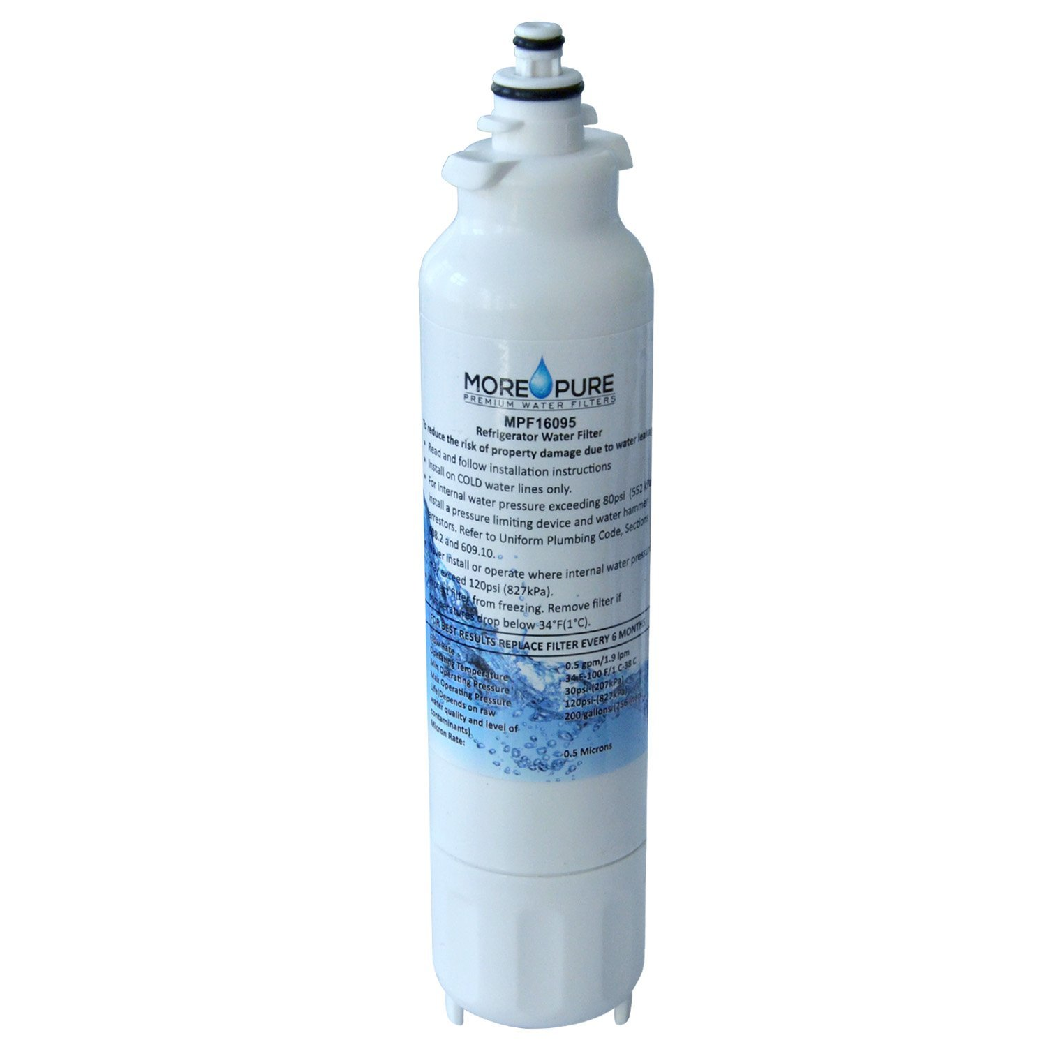 MORE Pure MPF16095 Refrigerator Water Filter Compatible with LG LT800P and Kenmore 46-9460 by MORE Pure Filters (Image #3)