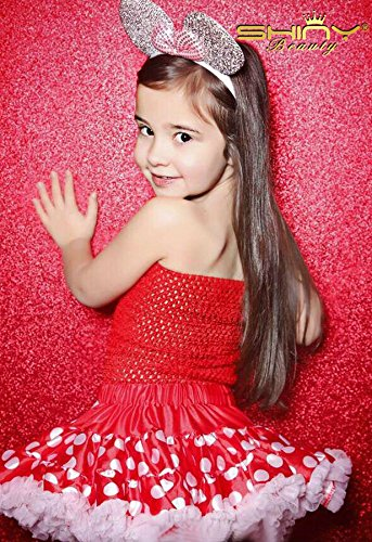 Red 4FTX8FT ShinyBeauty 8FTX8FT Red Sparkly Black Party Photo Booth Backdrop Wedding Sequin Backdrop Fabric