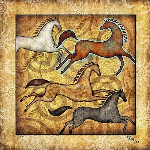(Horse Southwestern Tapestry by Dan Morris,)