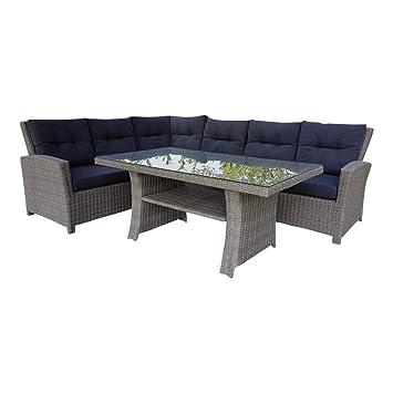 Amazonde Dasmöbelwerk Poly Rattan Sitzgarnitur Gartenmöbel