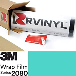 3M 2080 S57 Satin Key WEST 5ft x 1ft W/Application Card Vinyl Vehicle Car Wrap Film Sheet Roll