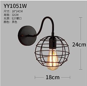 Viento industrial cabeza única codo alambre jaula lámpara de pared ...