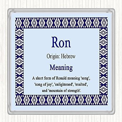 Placa de pared cuadrada con el nombre Ron, color azul: Amazon ...