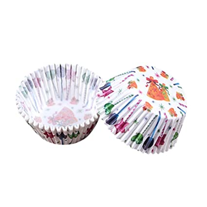 Newest Greative Cakecup Liners, sansee molde de papel para magdalenas (arco iris),