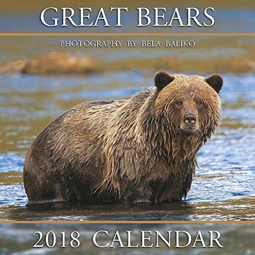 2018 Baliko Great Bears Wall (Bear Calendar)