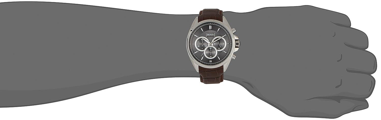 Amazon.com: Hugo Boss Anthracite Dial SS chronograph Quartz Mens Watch 1513035: Hugo Boss: Watches
