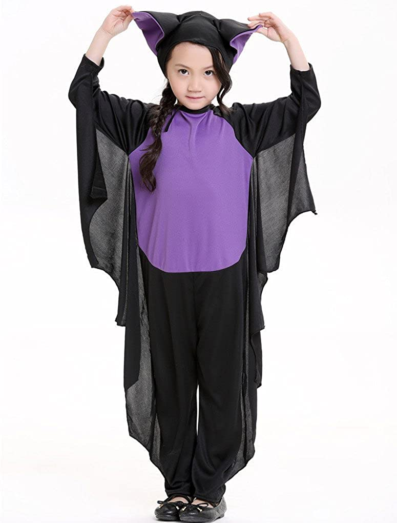 Honeystore Kids Bat Halloween Party Animal Costume Outfits HSY1609G1