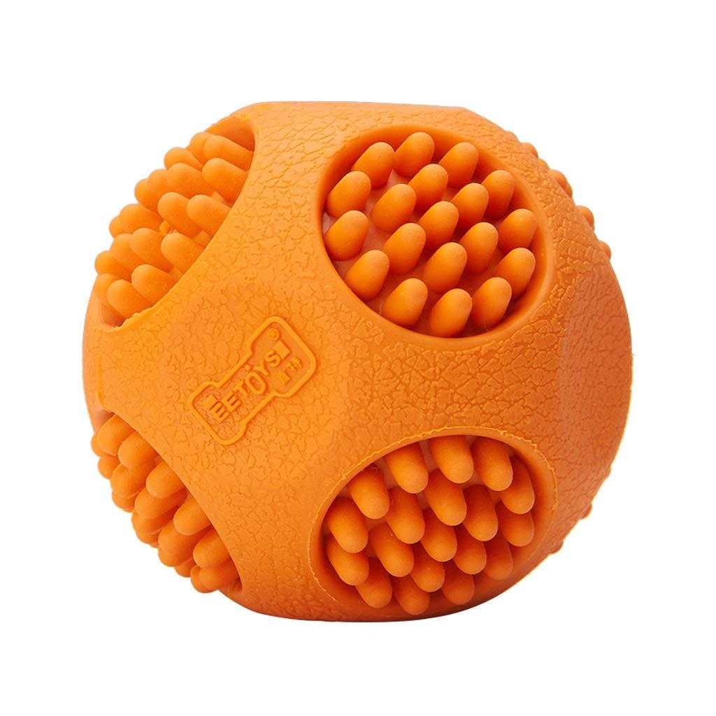 orange 6cm orange 6cm Dog Toy Tear-Resistant Bite Cleaning Pet Training Ball, Rubber Material, Pet Supplies (color   orange, Size   6cm)
