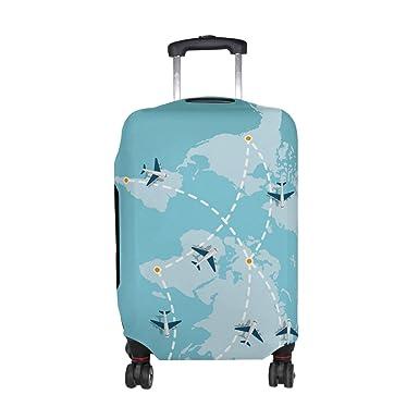 Amazon alaza world map airplane plane luggage travel suitcase alaza world map airplane plane luggage travel suitcase cover case protector gumiabroncs Image collections
