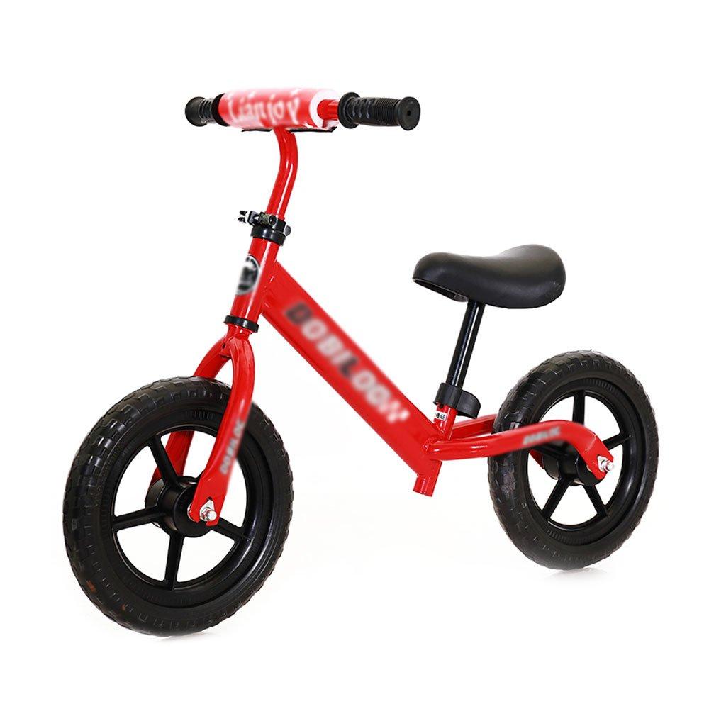 子供のスクーターペダルがない場合バギーのベビースクーターバランスの車は子供のダブルホイール自転車を膨張させる必要はありません子供のスクーター2ラウンドウォーカー12インチ2歳から6歳 B07F5NHMW4Red