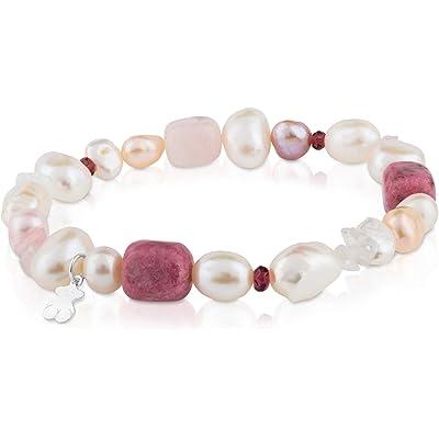 TOUS Pearls - Pulsera de Plata de Primera Ley con Perlas - 17,5 cm de Longitud